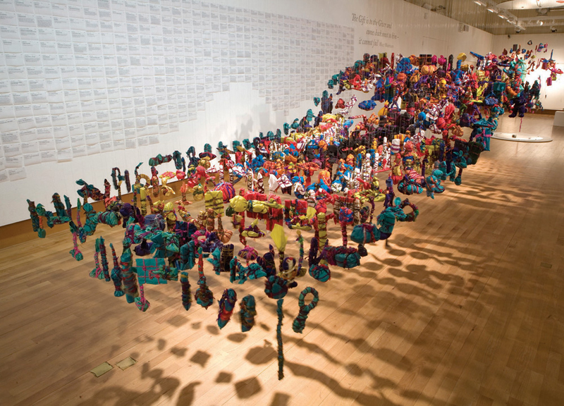 The Gifts 100-999, Bristol Museum and Art Gallery, part of the shape of things. Photo: David Emeny courtesy BMAG.