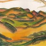 Dunes III (Gower Peninsula), Alinah Azadeh. Monoprint, acrylic ink on paper. 2015. 37cm x 20cm. £175.00